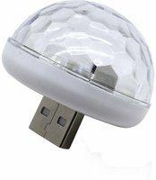 AutoRight Mini Disco DJ Lamp Light Multi-Color Sound Activated Music Controlled Sensor Lights USB Powered Car Fancy Lights(Multicolor)