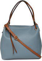 MASS Women Grey Messenger Bag