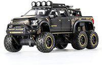 HALO NATION Highly Simulation Metal Die-cast Alloy Diecast 1:24 Scale F150 Raptor Big Wheel Toy Car Model Rock Crawler Climber Sound/Light/Pull-Back Car Toys for Children Kids Boys, Black(Black, Pack of: 1)