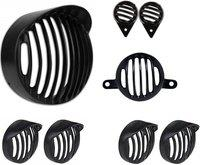 Gadget Deals Headlight, Tail Light, Parking Light, Indicator Grill 01 Bike Headlight Grill(Black)
