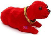 SP Moving Head Dog for car Dashboard Kids Birthday Valentine Gift Girlfriend Home Decoration showpieces shaking head dog toy for Car Dashboard/Home Decor/ Kids toy -10cm (Brown)(Red)