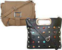 Element Cart Brown Sling Bag(Pack of 2)
