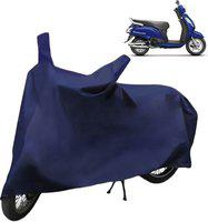 Spaiko Two Wheeler Cover for TVS(Star City, Blue)