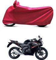 Bikenwear Two Wheeler Cover for Honda(CBR 150R, Red)