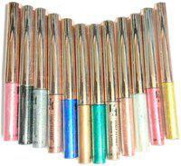 Half N Half SHADE-B 12 MULTI COLOR LIQUID SHIMMER EYELINER 96 ml(Multicolor)