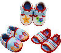 KazarMax Boys & Girls Velcro Casual Boots(Multicolor)