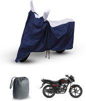CARZEX Two Wheeler Cover for Honda(Dream Neo, Silver, Blue)
