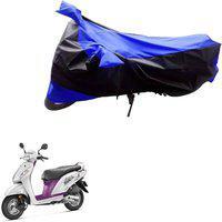 AK Art Two Wheeler Cover for Universal For Bike(Black, Blue)