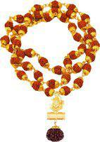 RUDRAKSH Rudraksh mala Gold-plated Plated Brass Chain Set