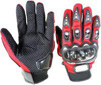 Pa PRO-BIKERZ-RED-ATT-(FULL-FINGERED)-XXL-Q8216 Riding Gloves(Red)
