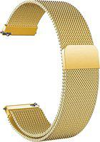 ACM WSM4M22GL1221N1 Watch Strap Magnetic Loop 22mm for Below Suitable Smartwatch Models (Luxury Metal Chain Band Champagne Gold) Smart Watch Strap(Gold)