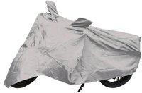 Allure Auto Two Wheeler Cover for Honda(CB, Silver)