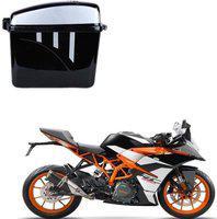 CARIZO Luggage Box Black, Silver Plastic Motorbike Saddlebag