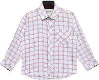 AJ Dezines Baby Boys Checkered Party White Shirt