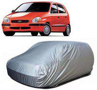 Anmol Car Cover For Hyundai Santro (With Mirror Pockets)(Silver, For 2008 Models)