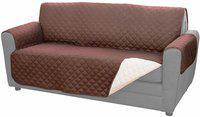 Shukan Sky Couch Coat, Convenient Reversible Sofa Cover Hammock Pet Seat Cover(Brown Waterproof)