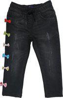 KiddoPanti Regular Girls Black Jeans