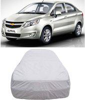 Anmol Car Cover For Chevrolet Sail (Without Mirror Pockets)(Silver, For 2013, 2015 Models)