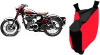 Shengshou Two Wheeler Cover for Royal Enfield(Classic 500, Red, Black)