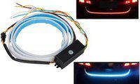 Cadeau LED Ice Blue & Red DRL Brake With Side Turn Signal & Car Fancy Lights Car Fancy Lights(Multicolor)