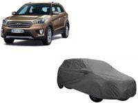 Printo Fine India Car Cover For Hyundai Creta (With Mirror Pockets)(Grey)