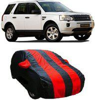 Car Bazaar Car Cover For Land Rover Freelander 2 (With Mirror Pockets)(Red, Black)
