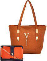 Mark & Keith Women Brown Messenger Bag(Pack of: 2)