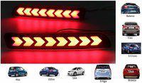 IMMUTABLE LED Car Reflector Rear Brake Light Bumper for all Maruti cars T25 Car Reflector Light(Red)