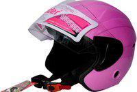 RIDER TOUCH OPEN FACE Motorbike Helmet(Pink)