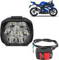 Ak Art Fog Lamp, Headlight LED for Yamaha(Universal For Bike, Pack of 1)