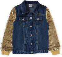 Cub McPaws Full Sleeve Solid Girls Denim Jacket