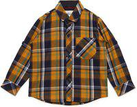AJ DEZINES Kids Yellow Color Shirt for Boys (SH_409_Yellow_10)