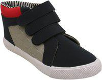 D'chica Cool Velcro High Ankle Sneakers for Boys Navy Blue-Grey Sneakers-12.5 Kids UK (31 EU) (DCJN5795-P)