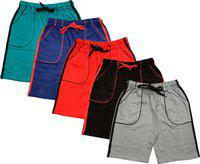 Indistar Short For Boys Casual Solid Polycotton(Multicolor, Pack of 5)