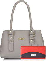 Fostelo Women Grey Messenger Bag(Pack of: 2)