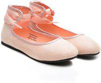 United Colors of Benetton Girls Lace Ballerinas(Pink)