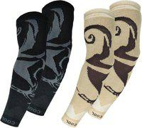 Queery Cotton Arm Sleeve For Men & Women With Tattoo(Free, Multicolor)