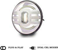 AutoSun LED Headlight For Royal Enfield, Mahindra Jeep, Thar, Classic 500, Classic, Elantra, Himalayan