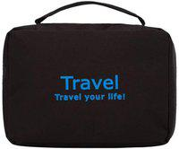 Kanha Travel Your Life Toiletry Travel Zipper Hanging Bag, Travel Cosmetic Organizer Travel Toiletry Kit(Black)