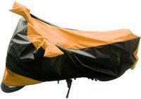 MotRoX Two Wheeler Cover for Bajaj(Discover 125 DTS-i, Orange, Black)