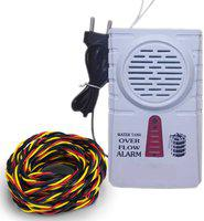 iWin Advance Water Tank Overflow Alarm with High Quality Overflow Voice Sound + 15mtr connecting wire Wired Sensor Security System