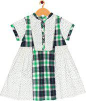 ShopperTree Girls Short/Mid Thigh Party Dress(Multicolor, Half Sleeve)