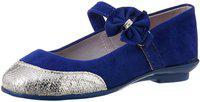 Disney Princess Girls Velcro Ballerinas(Dark Blue)