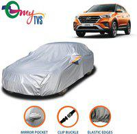 myTvs Car Cover For Hyundai Creta (With Mirror Pockets)(Silver)