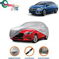 mytvs Car Cover For Maruti Suzuki Universal For Car (With Mirror Pockets)(Silver)