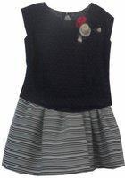 Peppermint Girls Casual Skirt Top(Dark Blue)