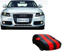 Car Bazaar Car Cover For Audi A4 (With Mirror Pockets)(Red, Black)