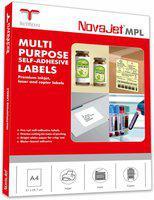 Novajet 2 A4 Size Sticker Paper Self-adhesive Paper Label(White)