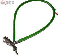 Adraxx Bicycle Safety Steel Chain with Number Cable Lock(Green)