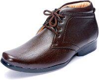 Shoebook Brown Synthetic Leather Boot Shoes